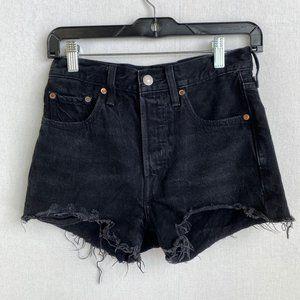 LEVI'S 501 Frayed Black Short